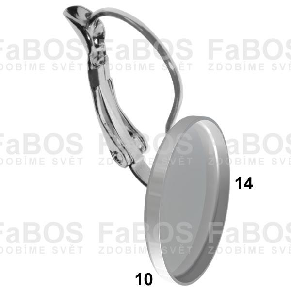 Lůžka na pryskyřici Lůžko pryskyřice ovál náušnice 14x10mm - FaBOS