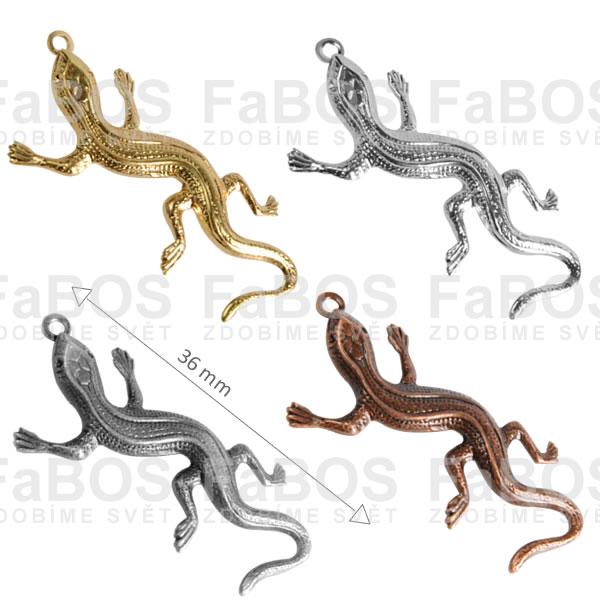Bižuterní přívěsky Bižuterní přívěsek ještěrka očko - FaBOS