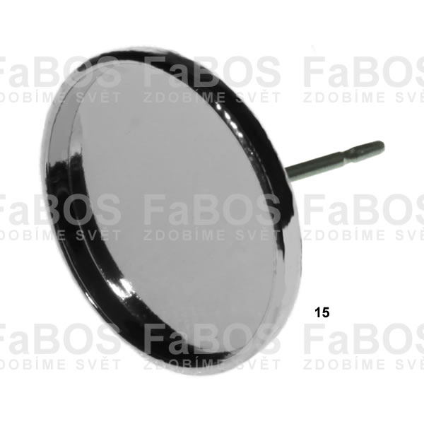 Lůžka na pryskyřici Lůžko pryskyřice kulaté náušnice p 15mm - FaBOS