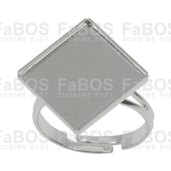 Lůžka na pryskyřici Lůžko pryskyřice čtverec prsten 14x14mm - FaBOS