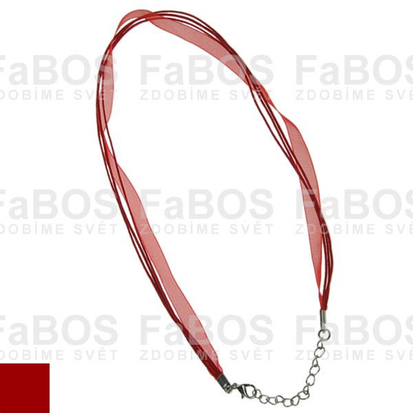Stužky s koncovkou Stužka s koncovkou červená - FaBOS
