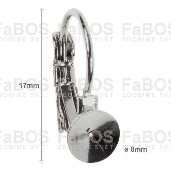 Náušnice klapka Komponent Swarovski rivoli náušnice k 8 - FaBOS