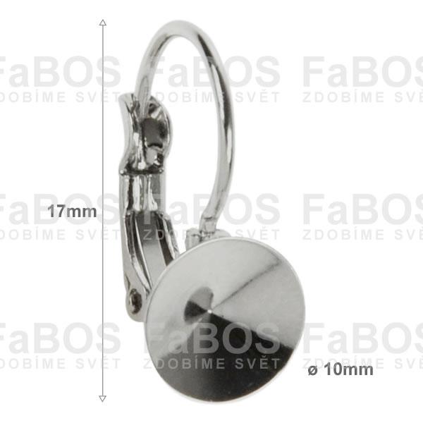 Náušnice klapka Komponent Swarovski rivoli náušnice k 10 - FaBOS
