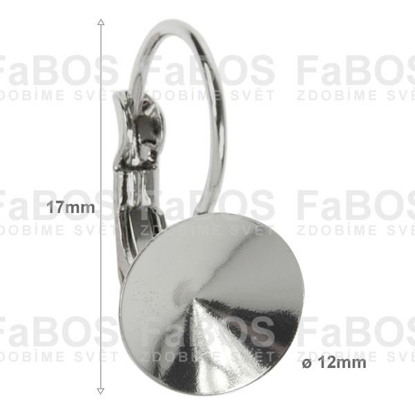 Náušnice klapka Komponent Swarovski rivoli náušnice k 12 - FaBOS