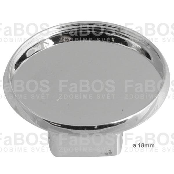 Lůžka epoxy čočky Lůžko epoxy čočka kulaté náušnice klips 18mm - FaBOS