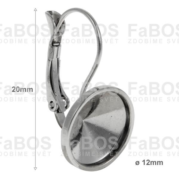 Náušnice klapka Komponent Swarovski rivoli náušnice k 12 rám - FaBOS