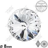 Swarovski Rivoli Crystal 08mm