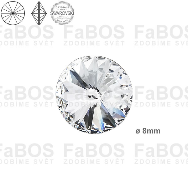 Swarovski Rivoli 1122 Swarovski Rivoli Crystal 08mm - FaBOS