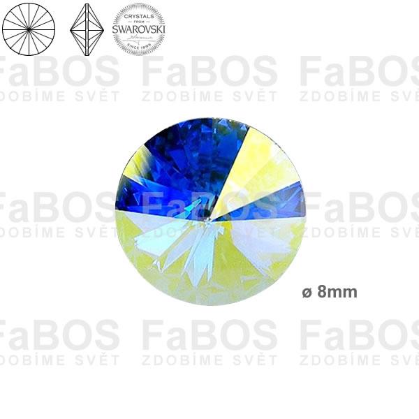 Swarovski Rivoli 1122 Swarovski Rivoli Crystal AB 08mm - FaBOS