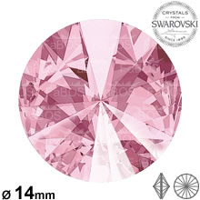 Swarovski Rivoli Light rose 14mm