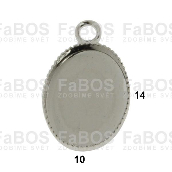 Lůžka na pryskyřici Lůžko pryskyřice ovál očko 14x10mm - FaBOS