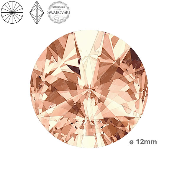 Swarovski Rivoli 1122 Swarovski Rivoli Light peach 12mm - FaBOS