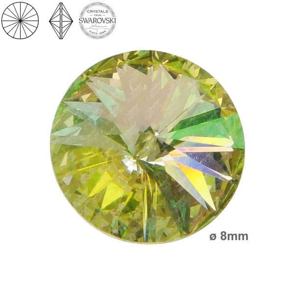 Swarovski Rivoli 1122 Swarovski Rivoli Crystal luminous green 08mm - FaBOS
