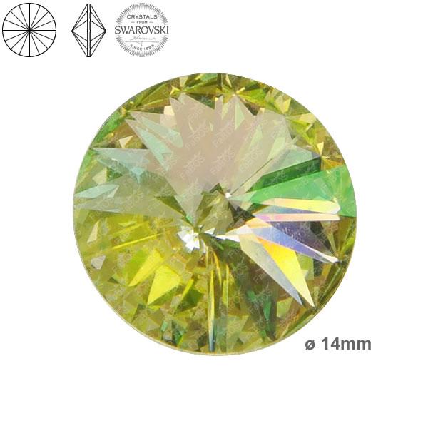 Swarovski Rivoli 1122 Swarovski Rivoli Crystal luminous green 14mm - FaBOS