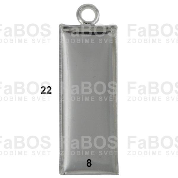 Lůžka na pryskyřici Lůžko pryskyřice obdélník očko 22x8mm - FaBOS