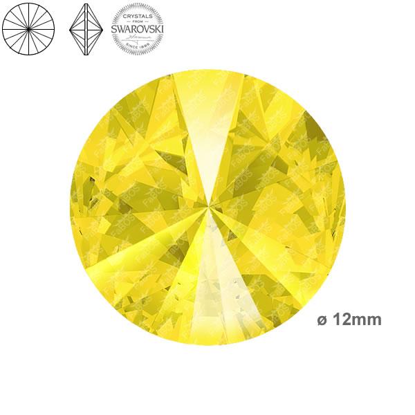 Swarovski Rivoli 1122 Swarovski Rivoli Yellow Opal 12mm - FaBOS