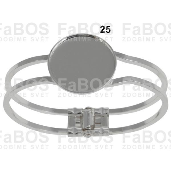 Lůžka na pryskyřici Lůžko pryskyřice kulaté náramek 25mm - FaBOS