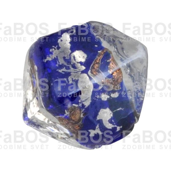 Vinuté korálky Korálek vinutý modrý osmistěn - FaBOS