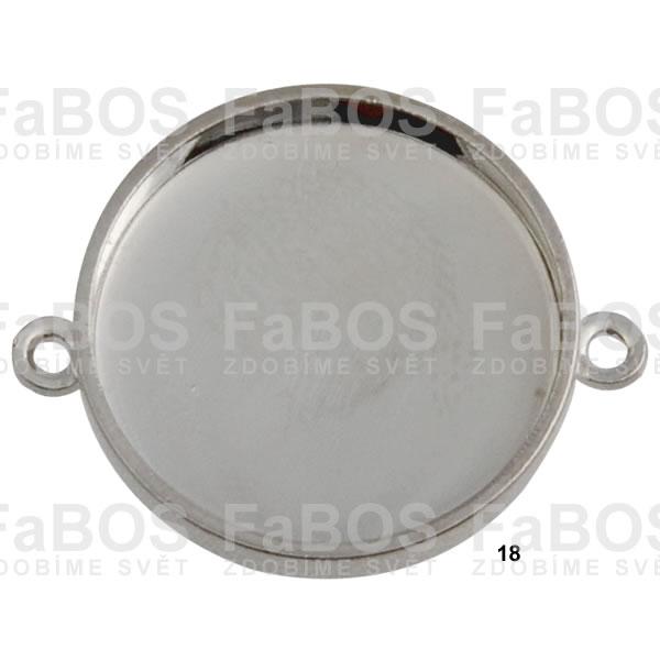 Lůžka na pryskyřici Lůžko pryskyřice kulaté 2x očko 18mm - FaBOS