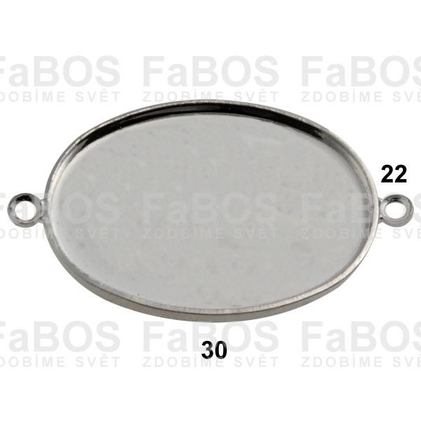Lůžka na pryskyřici Lůžko pryskyřice ovál 2x očko 30x22mm - FaBOS