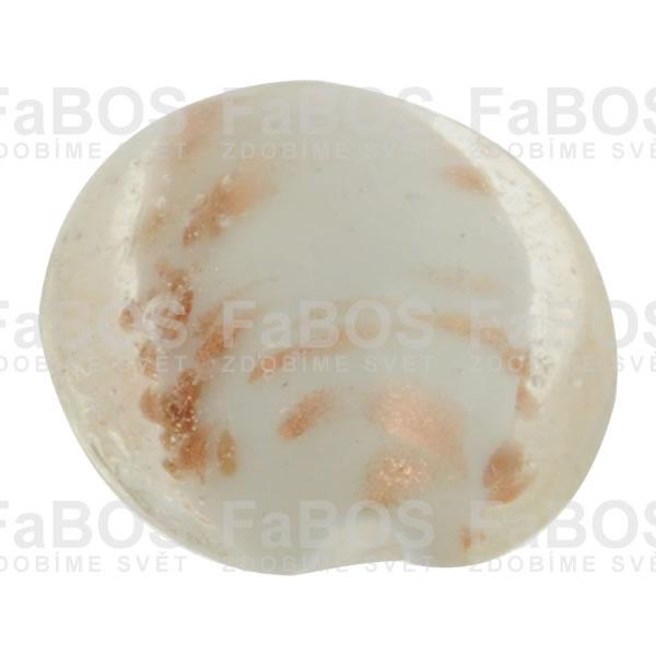 Vinuté korálky Korálek vinutý bílá čočka - FaBOS