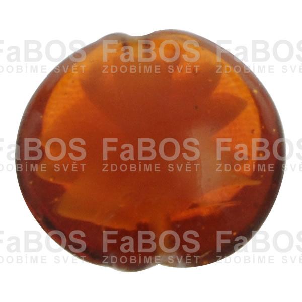 Vinuté korálky Korálek vinutý červená oranžová čočka - FaBOS