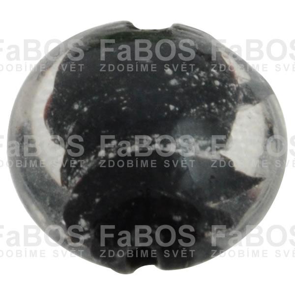 Vinuté korálky Korálek vinutý černá čočka malá - FaBOS
