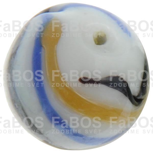 Vinuté korálky Korálek vinutý bílo medová kulička - FaBOS