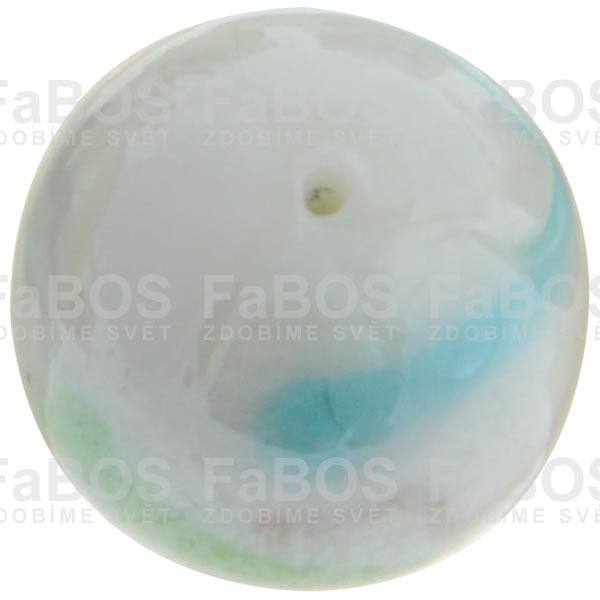 Vinuté korálky Korálek vinutý bílá kulička - FaBOS