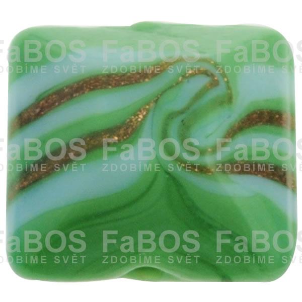 Vinuté korálky Korálek vinutý světle zelený čtvereček spirála - FaBOS