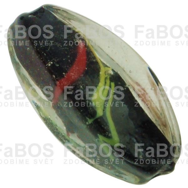 Vinuté korálky Korálek vinutý černá oliva - FaBOS