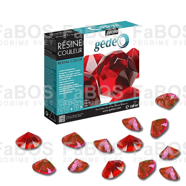 Pryskyřice do lůžka Červená pryskyřice Gédéo Ruby 150ml - FaBOS
