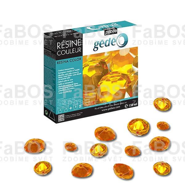 Pryskyřice do lůžka Žlutá pryskyřice Gédéo Topaz 150ml - FaBOS