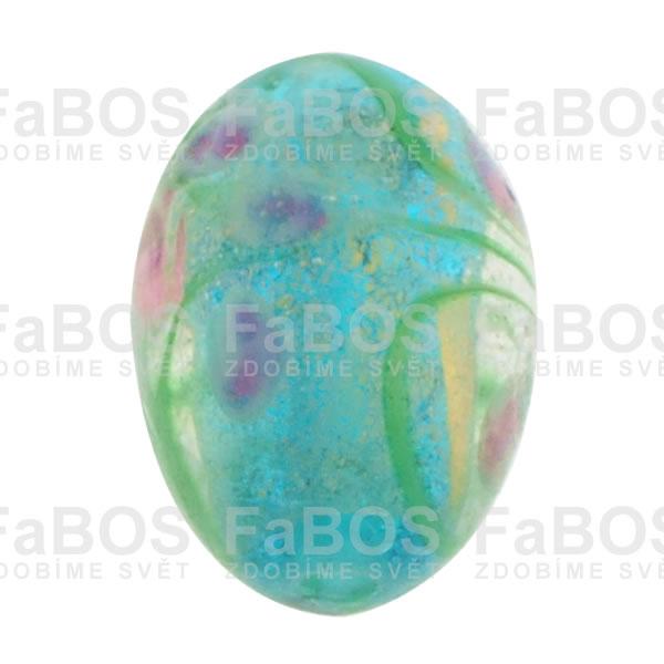 Vinuté korálky Korálek vinutý modré vajíčko malované - FaBOS