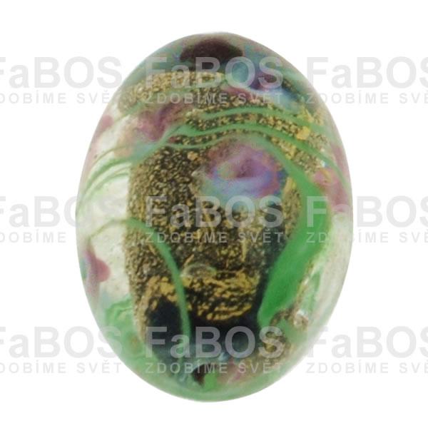 Vinuté korálky Korálek vinutý černé vajíčko malovaný - FaBOS