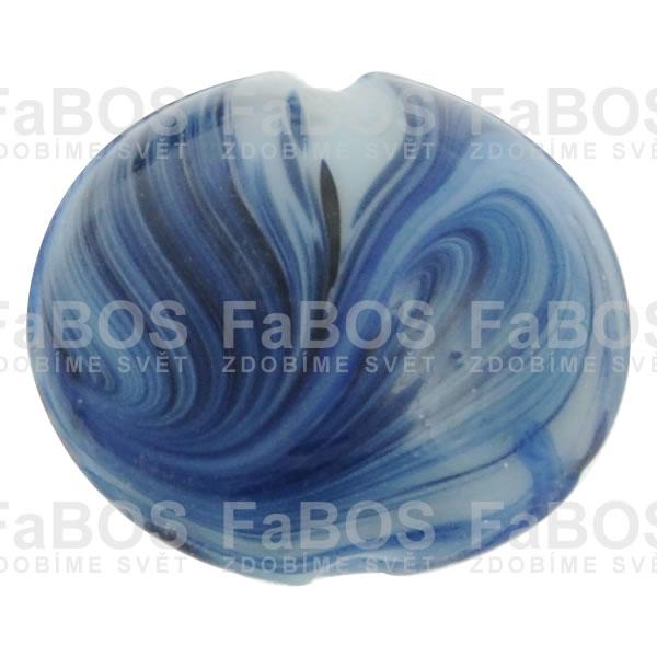 Mačkané korálky Korálek mačkaný modrý velký knoflík - FaBOS