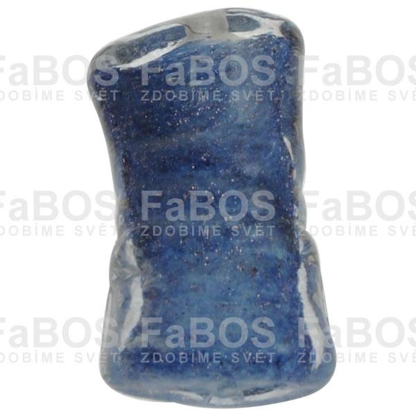 Vinuté korálky Korálek vinutý modrý obdélník - FaBOS
