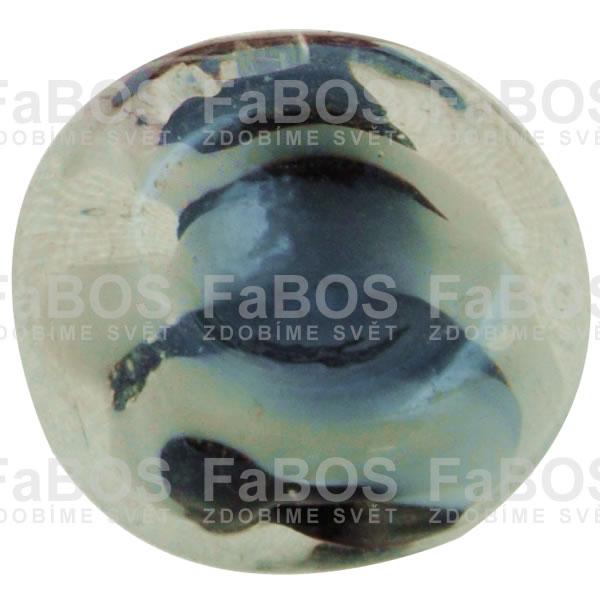 Vinuté korálky Korálek vinutý černý bonbon - FaBOS