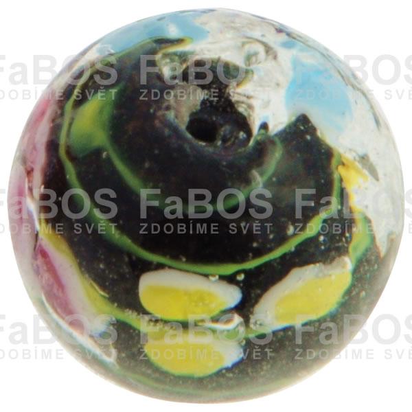 Vinuté korálky Korálek vinutý černá kulička - FaBOS