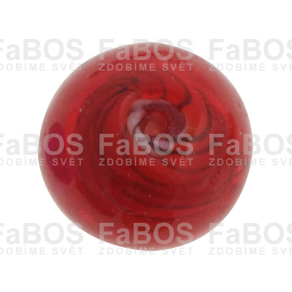 Vinuté korálky Korálek vinutý červená kulička malá - FaBOS