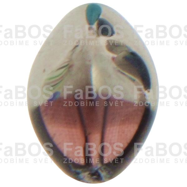 Mačkané korálky Korálek mačkaný fialová oliva pokovená - FaBOS
