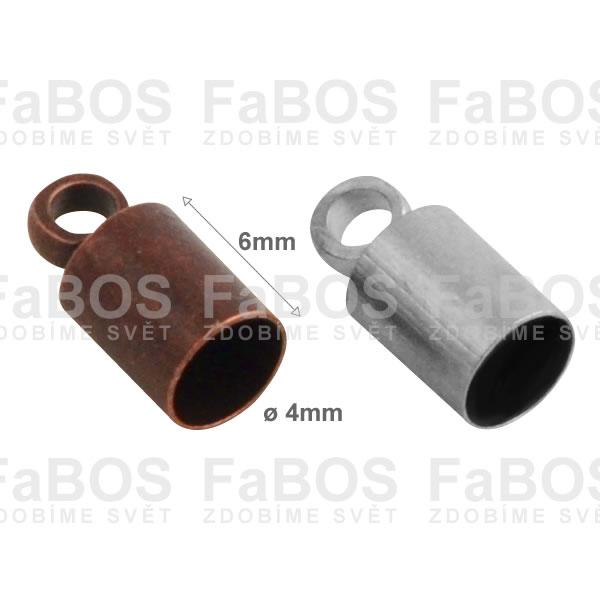 Bižuterní koncovky Kulatá bižuterní koncovka lepící 4mm - FaBOS