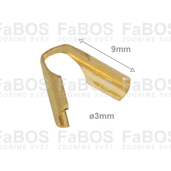 Bižuterní koncovky Piškot bižuterní koncovka letovací 3 mm - FaBOS