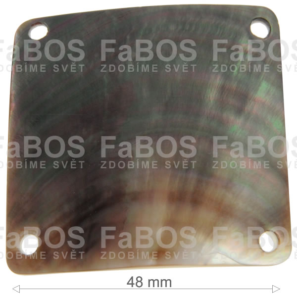 Perleť Perleť čtverec tmavý - 48x48mm - FaBOS