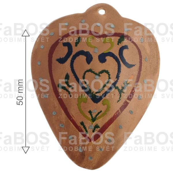 Perleť Perleť malovaná srdce - FaBOS
