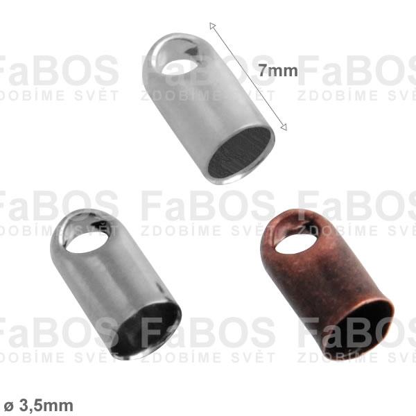 Bižuterní koncovky Kulatá bižuterní koncovka lepící B 3,5mm - FaBOS