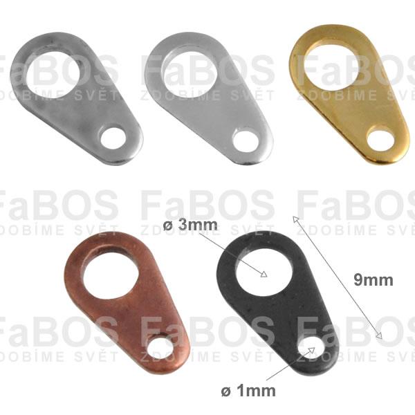 Bižuterní protikroužky a protidíly Bižuterní protidíl plochý 9mm - FaBOS