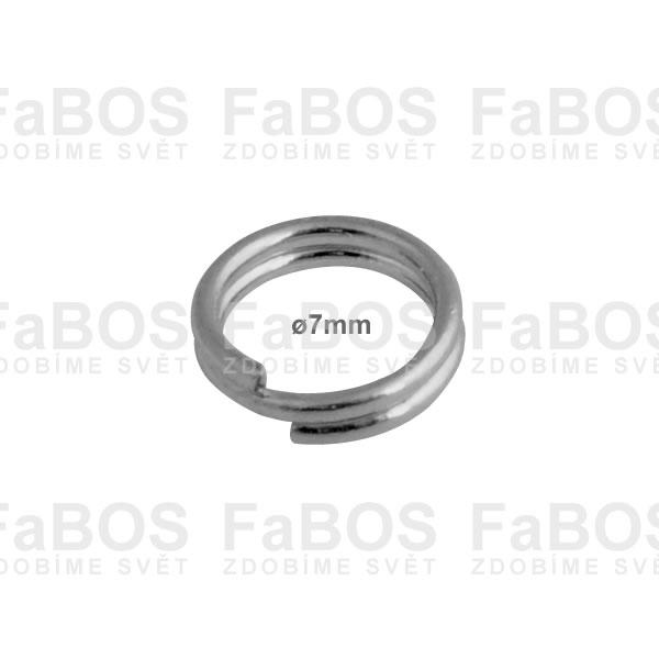 Bižuterní protikroužky a protidíly Bižuterní protikroužek pérový 7mm - FaBOS