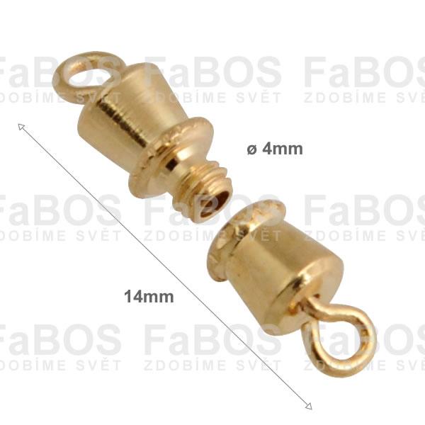 Bižuterní zapínání Bižuterní zapínání šroubovací 14mm - FaBOS