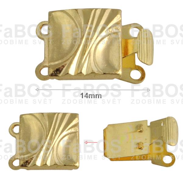 Bižuterní zapínání Bižuterní zapínání mechanické 14mm B - FaBOS
